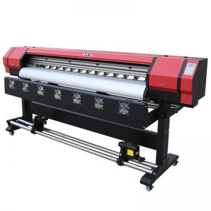 6 fut Çap Video WER-ES1901 DX5 / DX7 baş eco solvent printer Guangzhou Təchizatçı