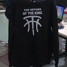 A2 t-shirt printerindən qara sviter çap nümunəsi WER-D4880T