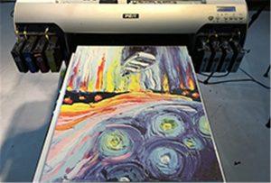 A2 UV printerindən tuval nümunəsi WER-EH4880UV