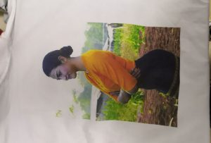 T-shirtlər Burma müştərisi üçün WER-EP6090T printerindən çap nümunəsi